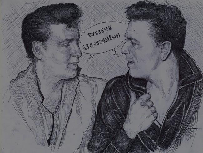 Eddie Cochran, Gene Vincent by didgiv